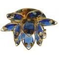 Светильник CDY05 G/BL (золото/голубой) G6