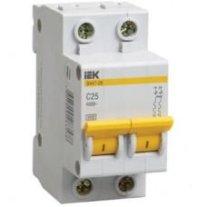 Автоматический выключатель IEK ВА47-29 2P C 1А 4,5kA