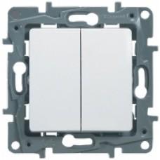 Выключатель проходной 2кл. Legrand Etika белый