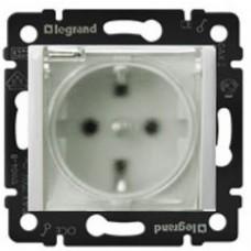 Розетка c прозрачной крышкой IP44 Legrand Valena белый