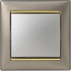 Legrand Valena Титан/золотой штрих Рамка на 1 пост