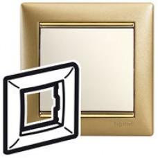 Legrand Valena Матовое золото/золотой штрих Рамка на 1 пост