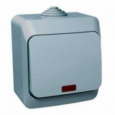 Выключатель 1кл. с подсветкой Schneider Electric Этюд IP44 серый