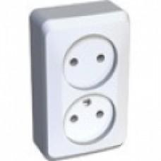Розетка 2-я б/з Schneider Electric Этюд белая