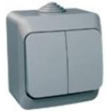 Выключатель 2кл. Schneider Electric Этюд IP44 серый