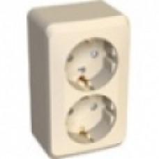 Розетка 2-я c/з Schneider Electric Этюд крем