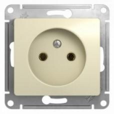 Розетка б/з Schneider Electric Glossa крем