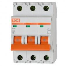 Автоматический выключатель TDM BA47-63 3п 6А