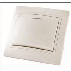 Выключатель 1кл. с подсветкой TDM Таймыр белый