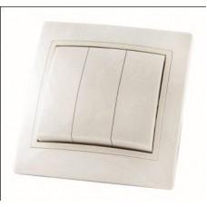 Выключатель 3кл. TDM Таймыр белый
