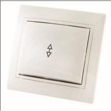 Выключатель 1кл. проходной TDM Таймыр белый