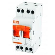Модульный переключатель трехпозиционный МП-63 2Р 40А TDM