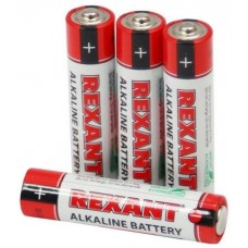 Алкалиновая батарейка AAА/LR03 1,5V REXANT