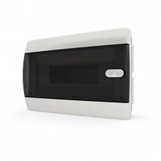 Бокс встраиваемый 8 мод. прозрачная черная дверь IP41 Tekfor