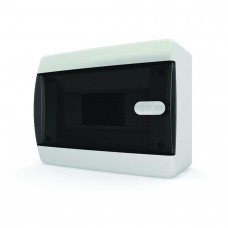 Бокс навесной 8 мод. прозрачная черная дверь IP41  TEKFOR