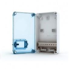 Бокс TEKFOR KNS 66-350 под счетчик прозрачная синяя дверь IP66