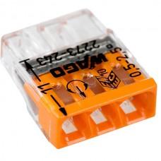 Клемма 3x2.5мм оранжевая/прозрачная 2273-203