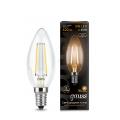 Лампа светодиодная свеча E14 5w 2700K Filament Gauss