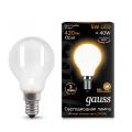Лампа светодиодная шар E14 5w 2700K Filament Opal Gauss