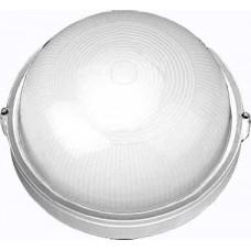 Светильник НПП-03-100-009 IP65 Банник 1101 Круг большой матовый/корпус белый