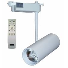Трековый светодиодный светильник DLP 20T 20W 3000-6000K WH с пультом