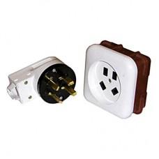 Разъем рш-вш для электроплит встраиваемый 4-контактный 32А 400В