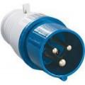 Вилка силовая TDM 3 контакта 16A 220v IP44