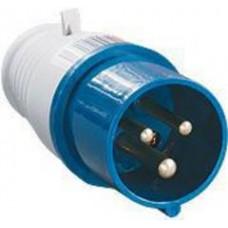 Вилка силовая АБК 3 контакта 16А 220В IP-44
