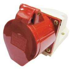 Розетка стационарная АБК 4 контакта 16A 380v IP44