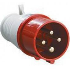 Вилка силовая АБК 4 контакта 16A 380v IP44