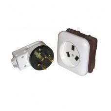 Разъем рш/вш для электроплит встраиваемый 3-контактный 32А 250В